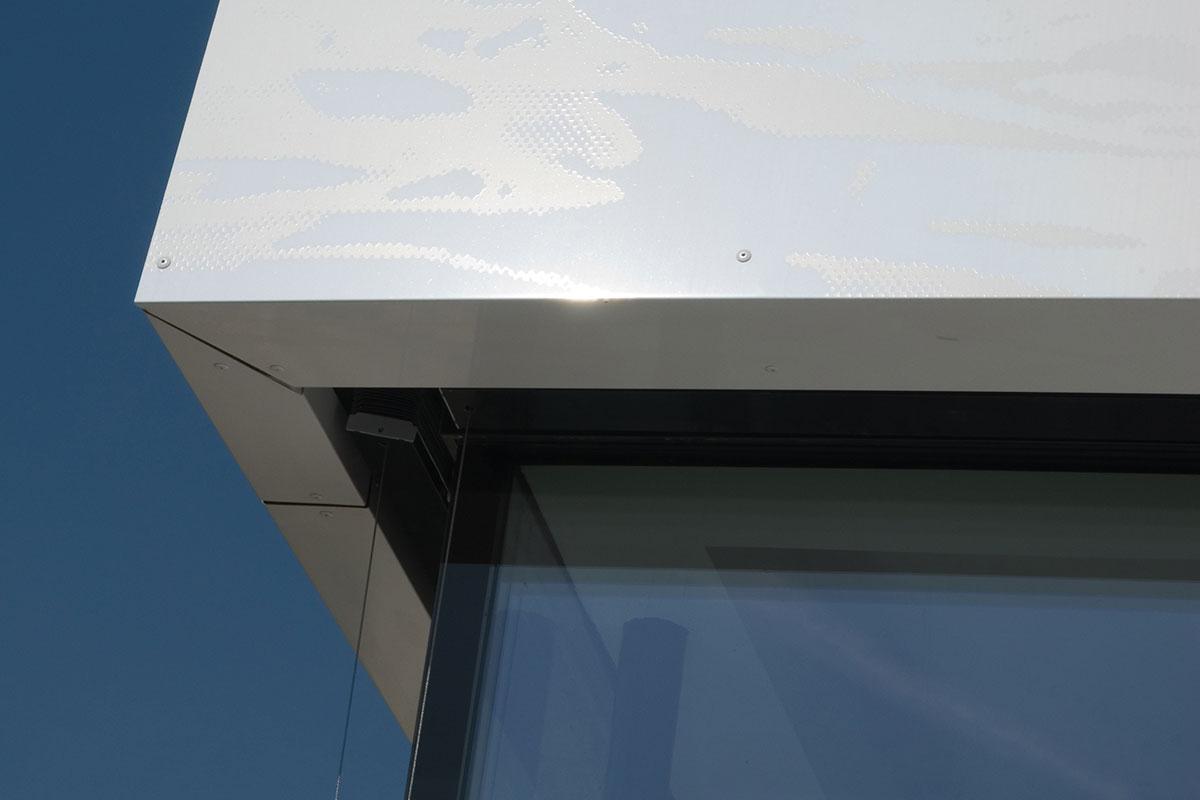 bedruckte Aluverbund Fassaden Detailfoto