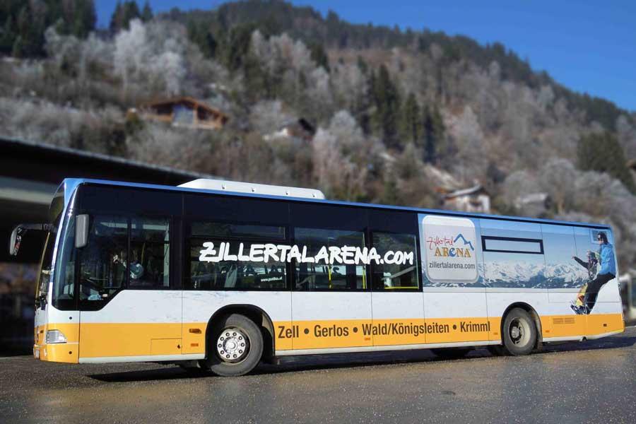 Busfolien Beklebung mit Design