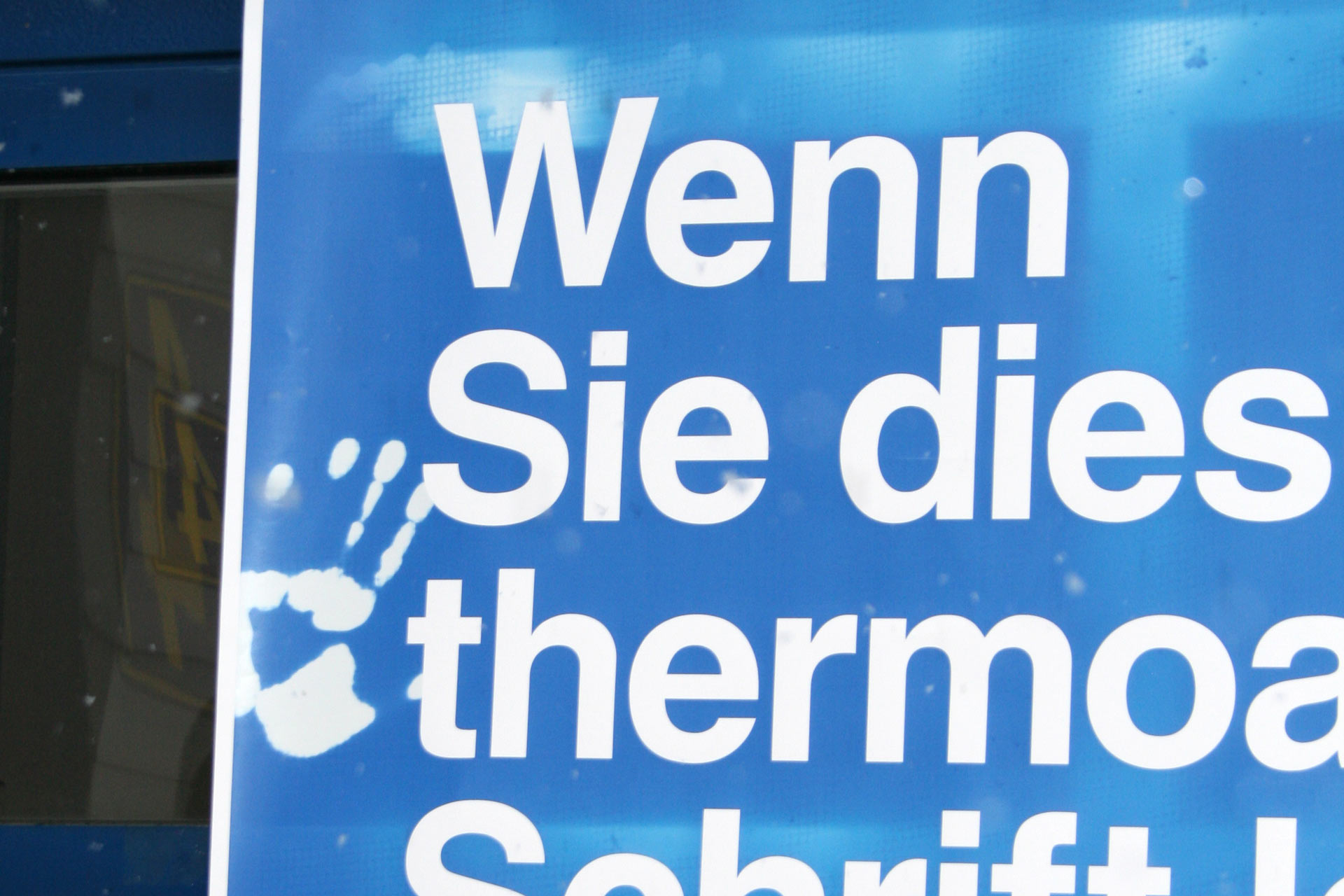 thermoaktive farbe - gruft