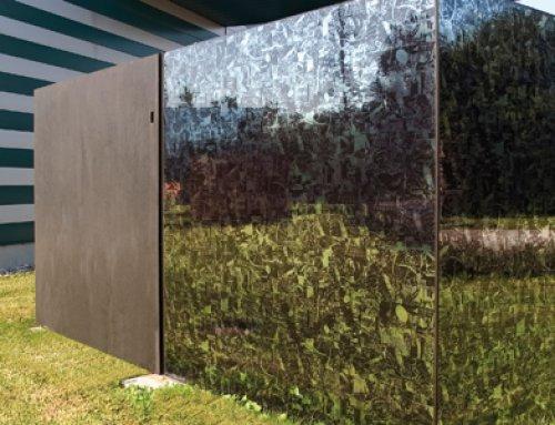 Glasfassade mit Hochleistungsfolien