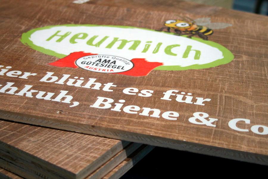 Holzdruck auf MDF-Platten