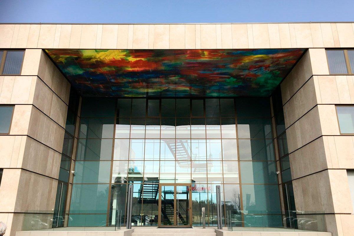 bedruckte Fassaden für Kunst am Bau Projekt