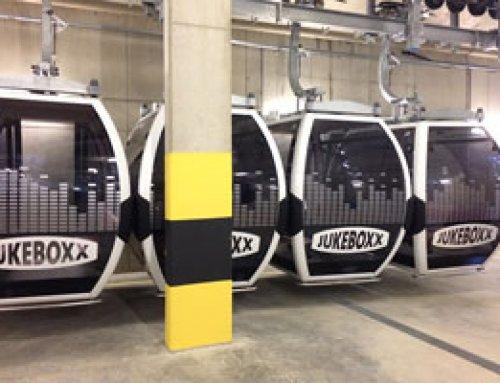 Gondelverklebung Schmitten Xpress & Jukeboxx