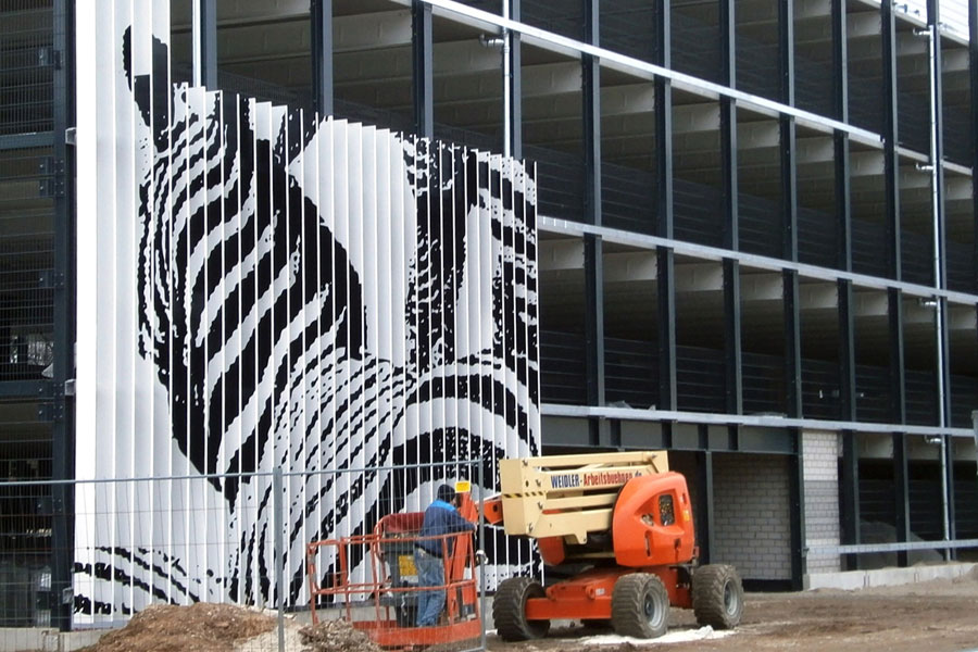 Aluminiumlamellen Fassade