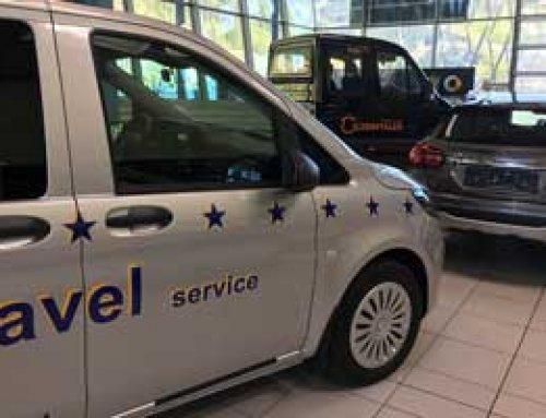 Beschriftung Fahrzeugflotte EURO Taxi