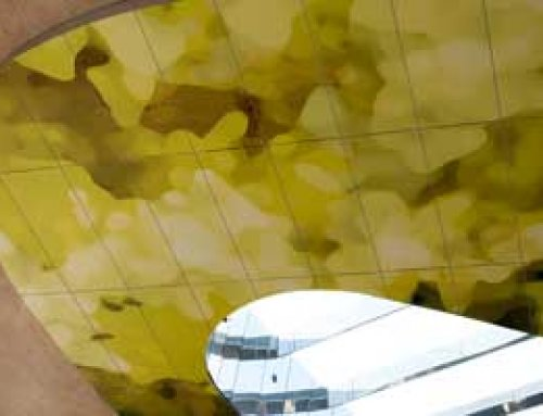Deckenmotiv aus Aluverbundplatten
