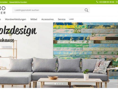 Besuchen Sie unseren Webshop für Holz & Möbel!