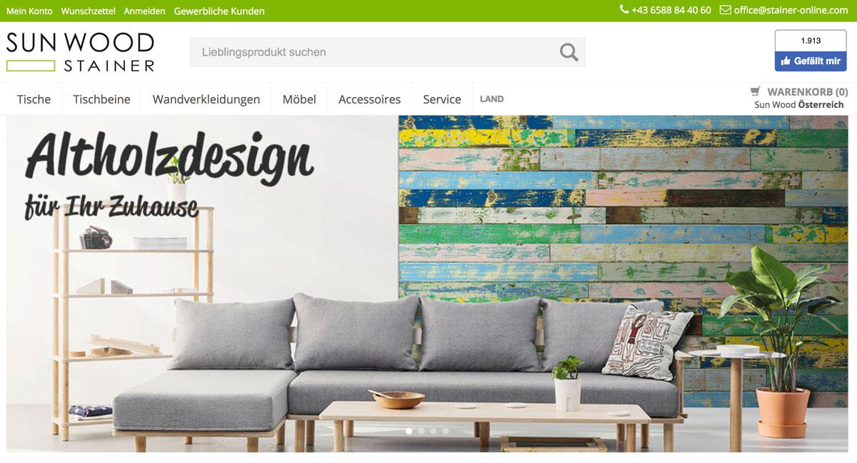stainer-online --- Webshop für Holz, Wandverkleidungen, Möbel
