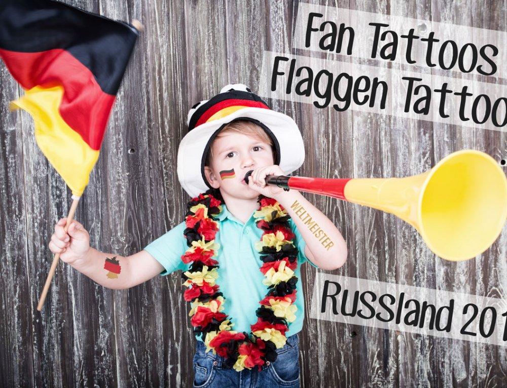 Flaggen-Tattoos als Give Away für die WM 2018