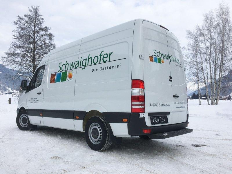 bus-beschriftung, fahrzeugbeschriftung gärtnerei schwaighofer
