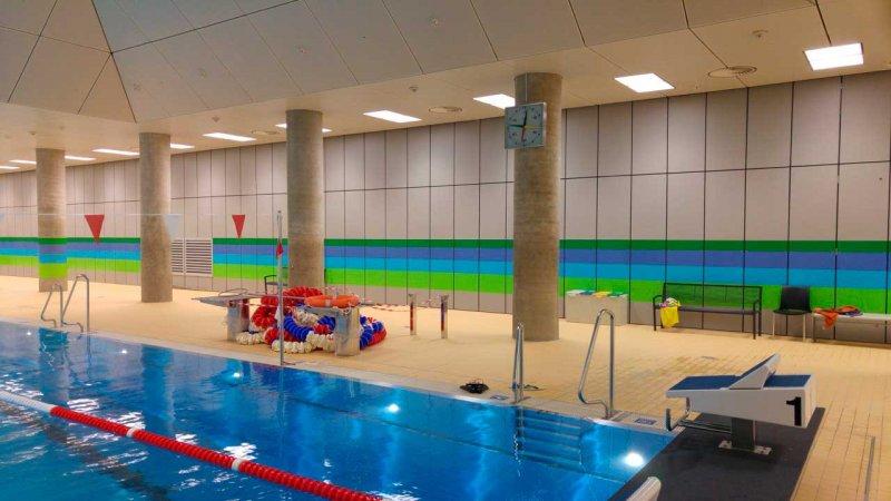 chlorbeständige faserzementplatten - wandverkleidung - olympia-schwimmhalle münchen