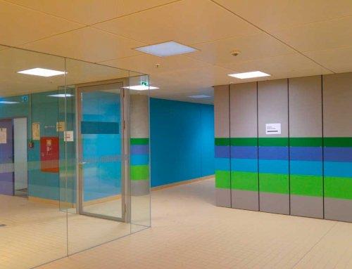 Wandverkleidung aus chlorfesten Faserzementplatten