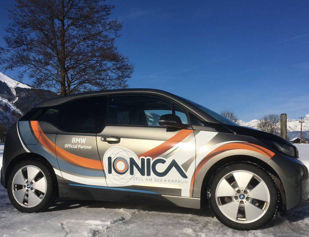 Fahrzeugbeschriftungen IONICA E-Mobilitäts-Kongress