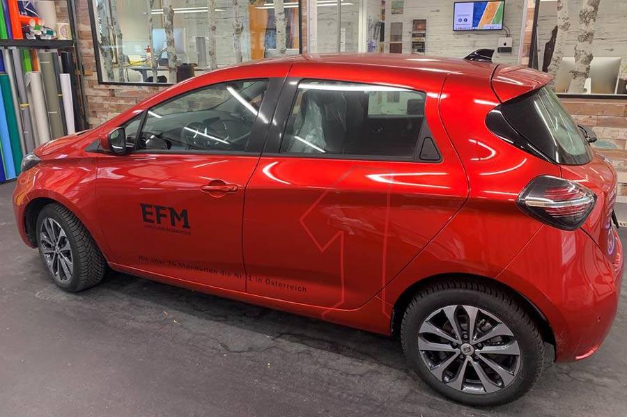 Elektroauto Beschriftung einfarbig