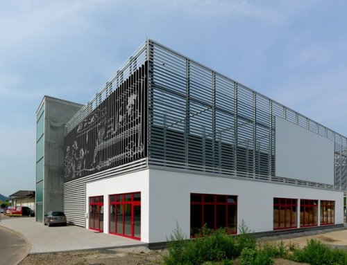 Lisenenfassade Parkhaus Bruchsal