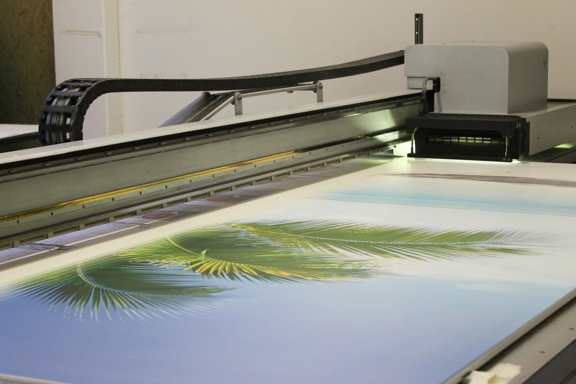 bedruckte Rammschutz-Platten aus Faserzement