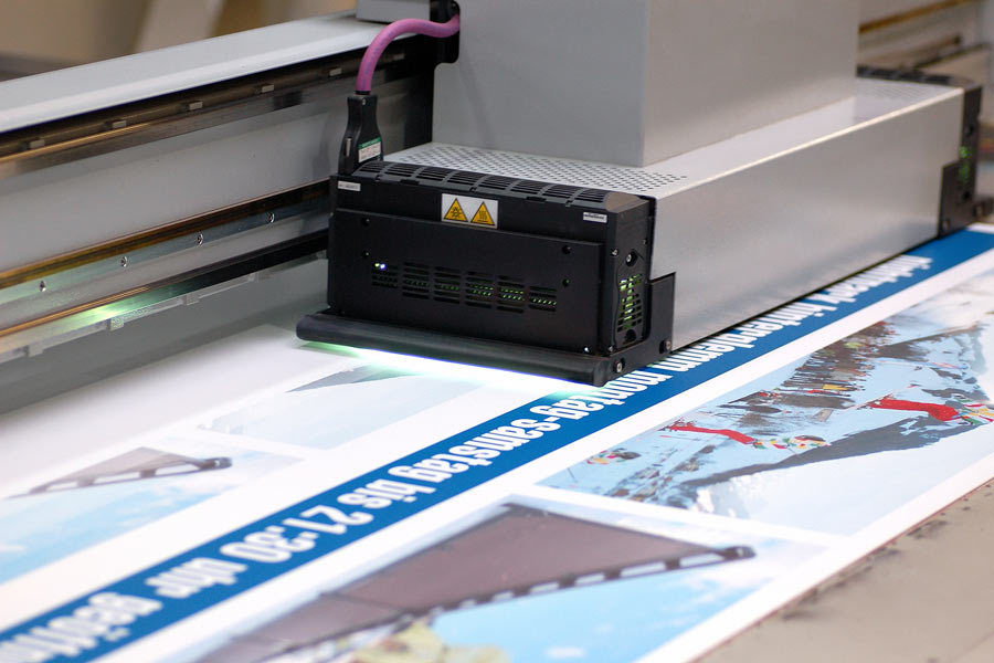 Digitaldruck Maschine im Einsatz