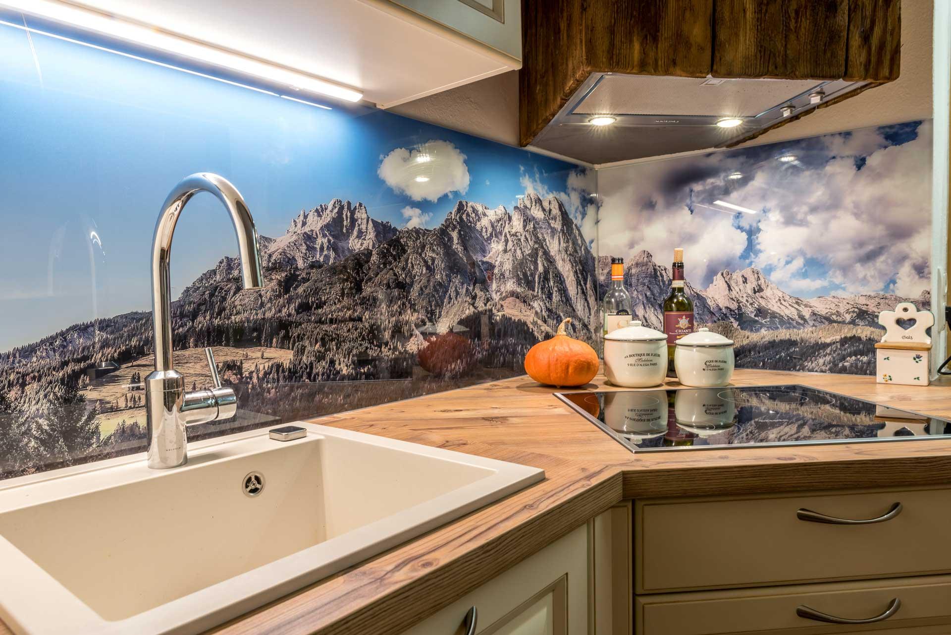 Bilder auf Glas drucken für Küchenrückwand