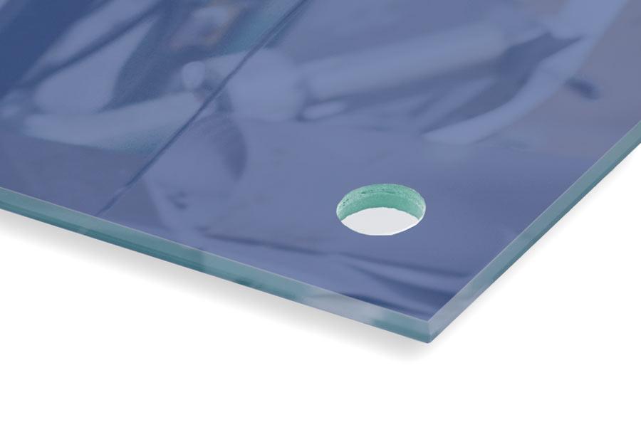 Glas Oberfläche bedruckt