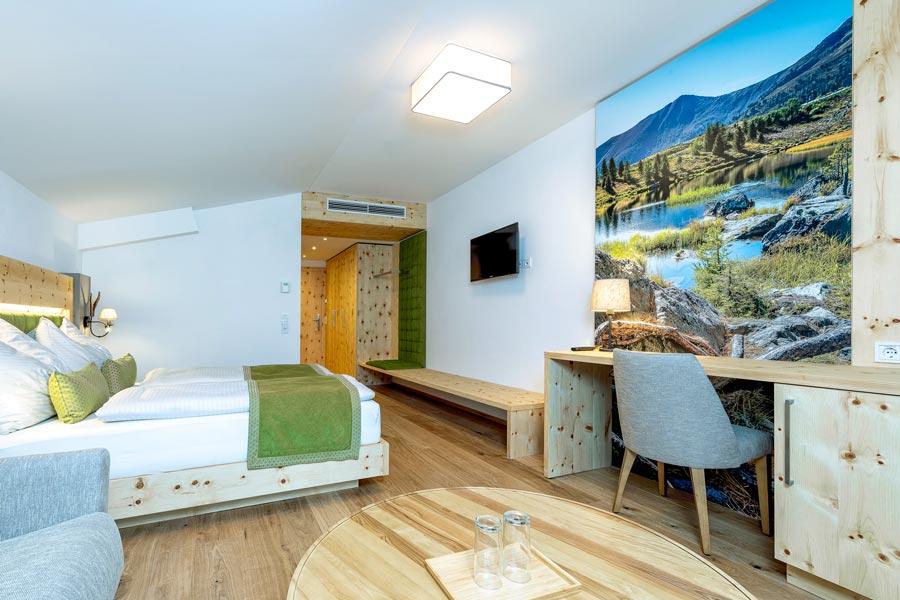Hotelzimmer bedruckte Rückwand