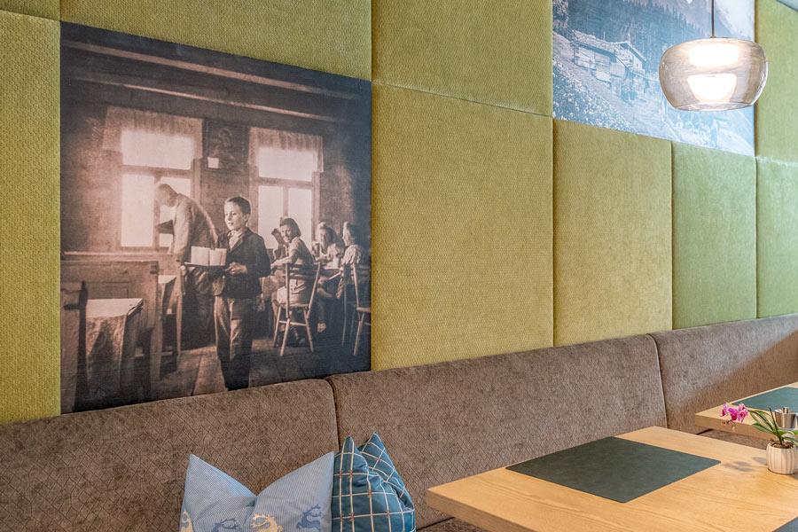 Detail Foto auf Holz in Möbel