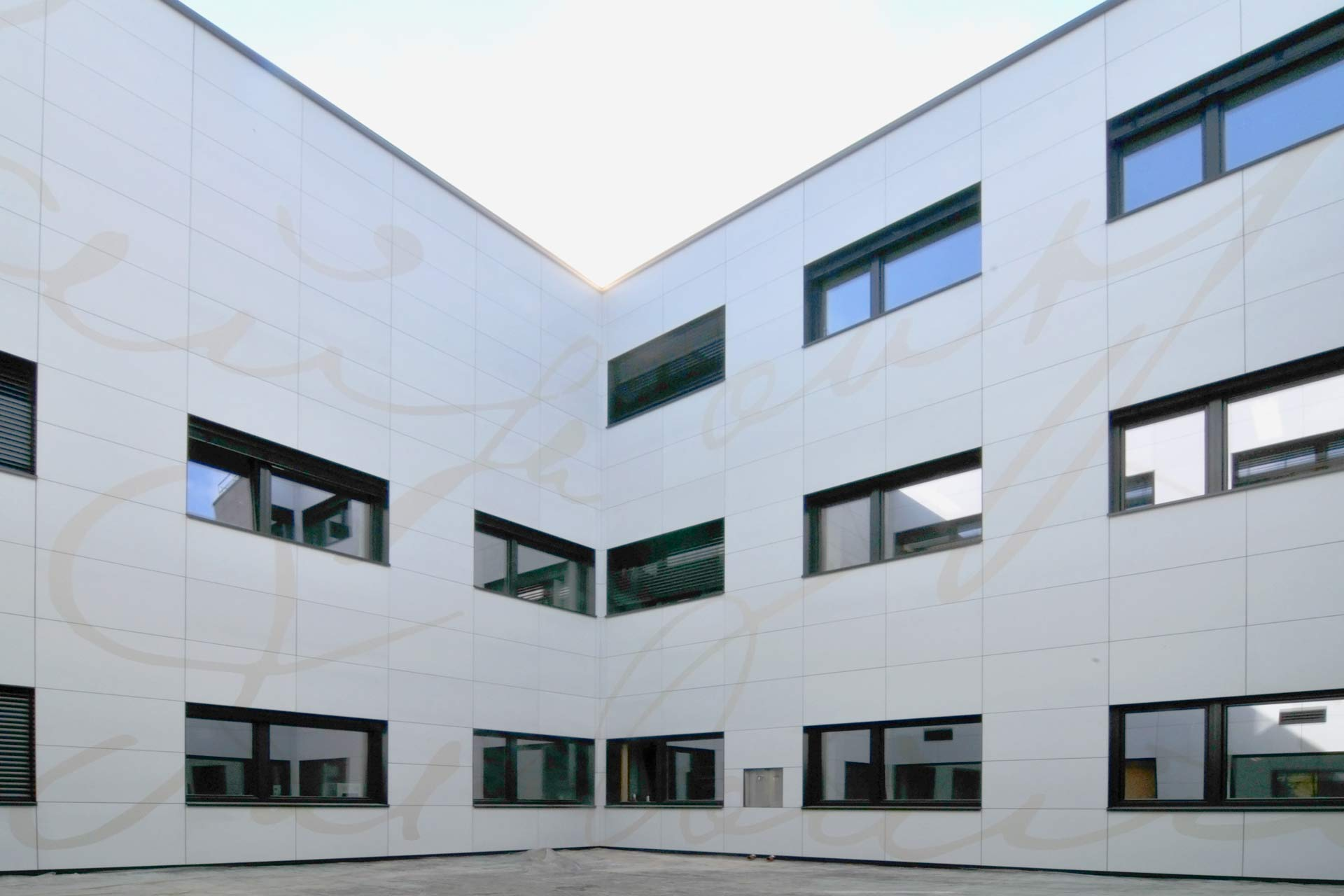 Beton Fassade bedruckt