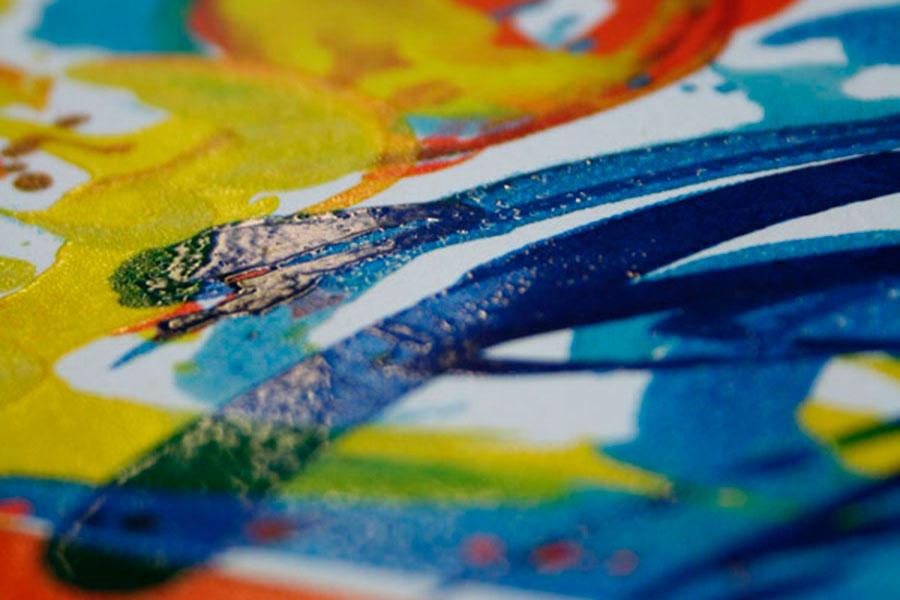 Kunstdruck mit Oberflächeneffekt