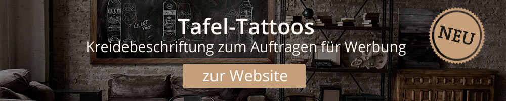 Tafel-Tattoo Banner
