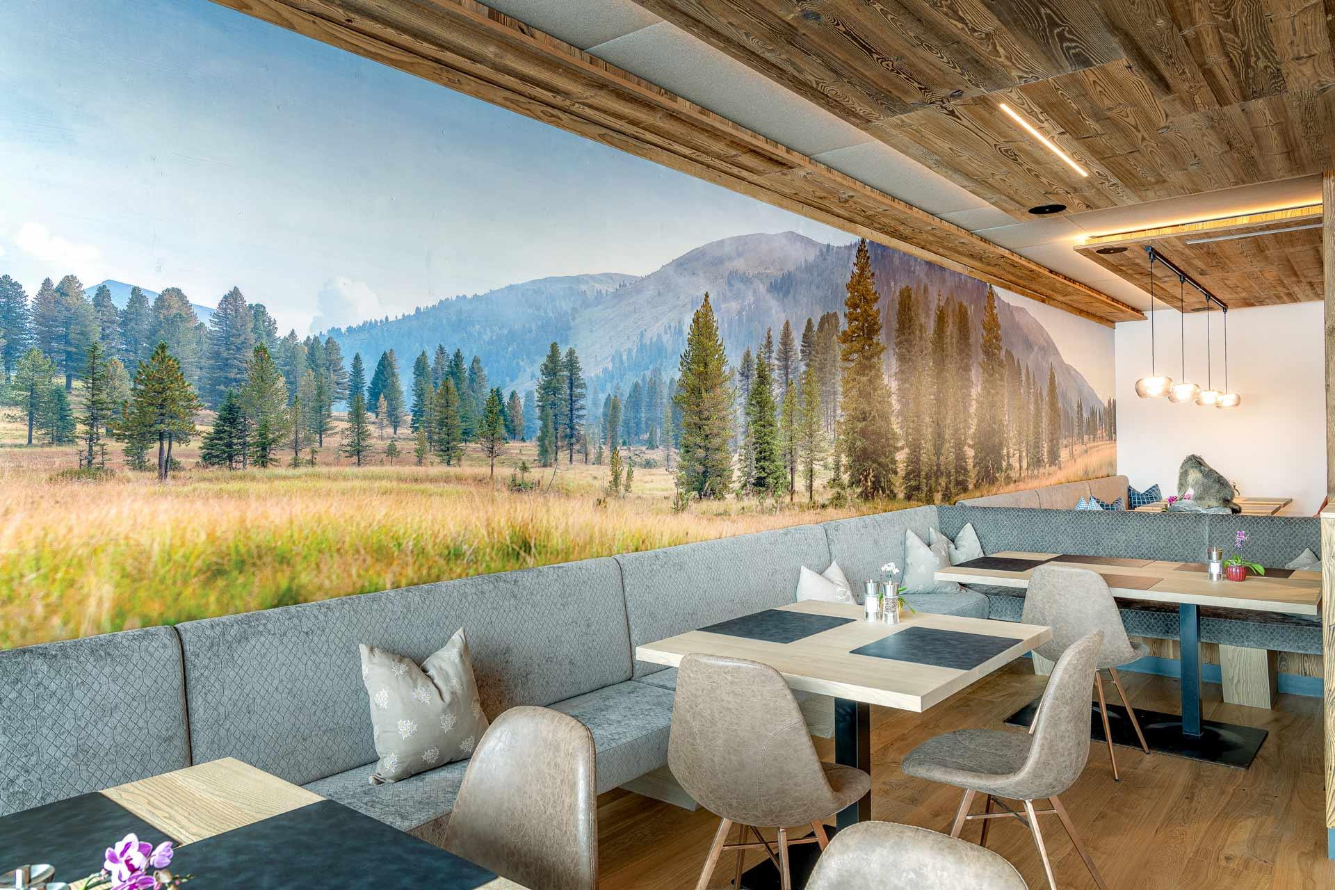 Großformat Holzbild in Hotel