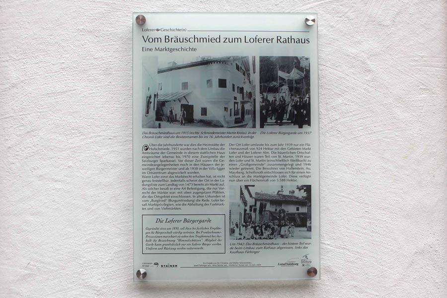 Acrylschilder Loferer Geschichte