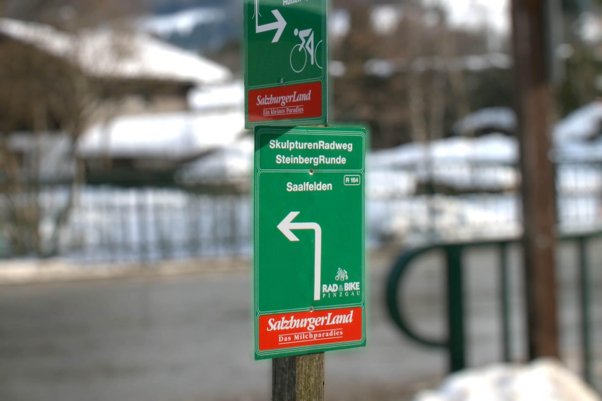 Aluschild für Radweg