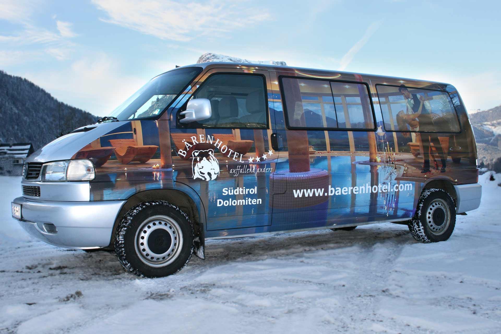 Bus Vollverklebung für Bärenhotel