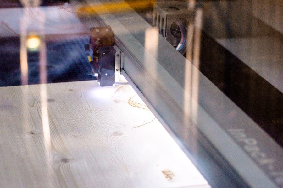 Detail Foto von Laser