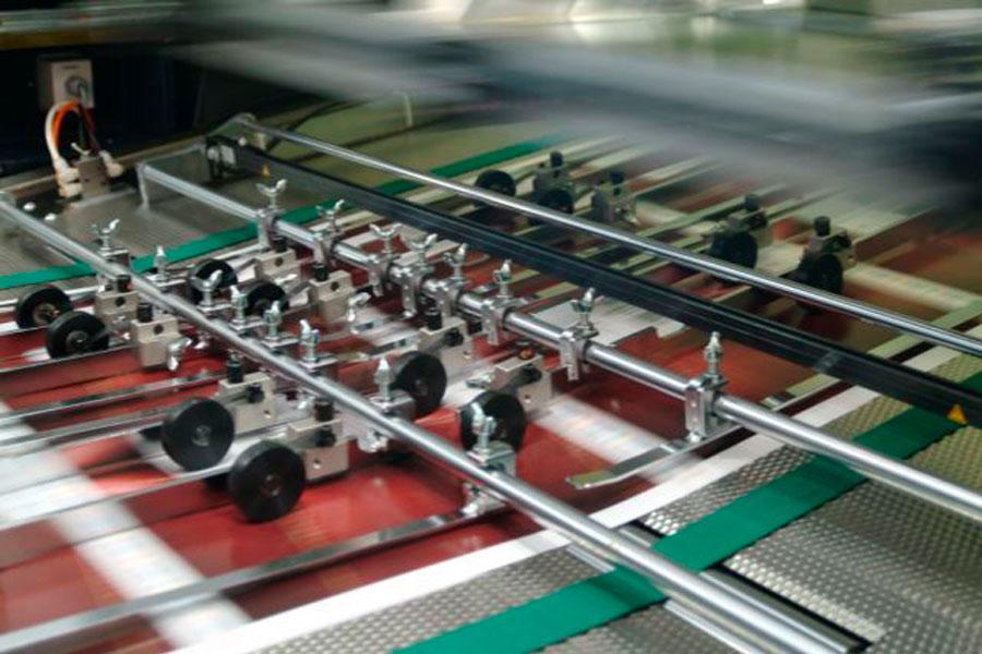 Siebdruckmaschine Detailansicht