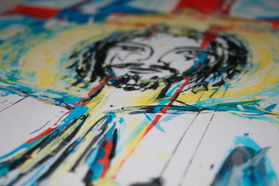 Kunstdruck Großformatscan für Farben