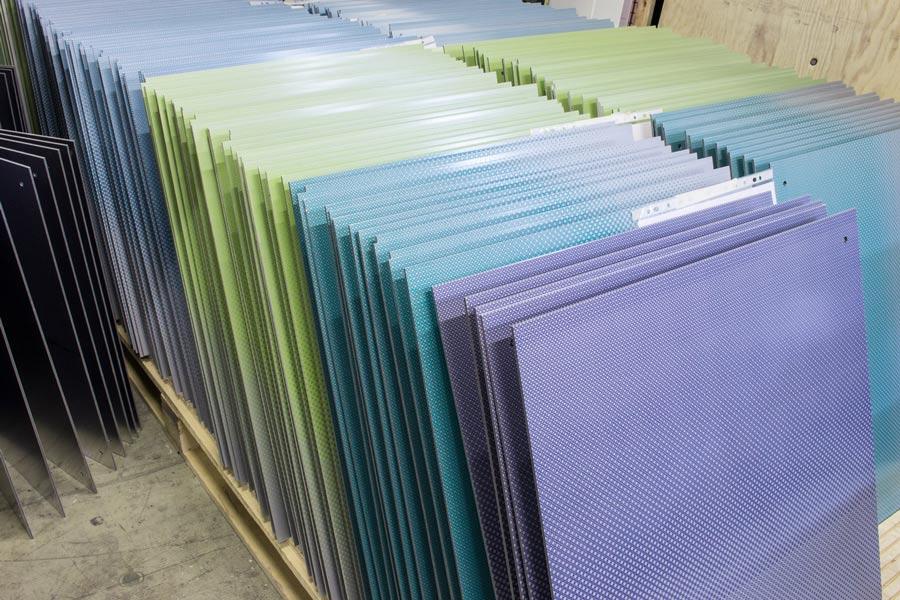Metallfassadenplatten Siebdruck